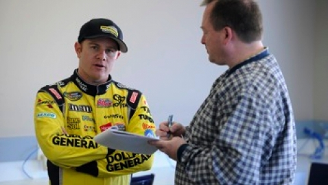 Leffler at Rockingham tire test