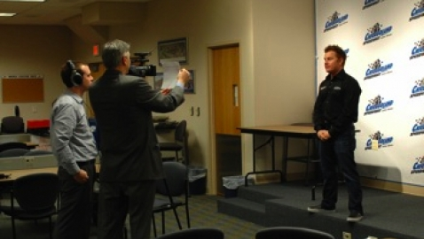 Leffler talks to the media
