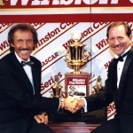 Richard Petty congratulates Dale Earnhardt on seveth championship 1994