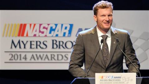 Dale Earnhardt Jr. Receives 2014 NMPA Myers Brothers Award