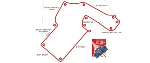 Grand Prix of Boston route/course (courtesy of INDYCAR)