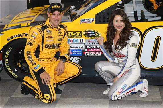 Matt Kenseth and Miss Coors Light Amanda Mertz at Charlotte Motor Speedway (photo courtesy of Getty Images for NASCAR)
