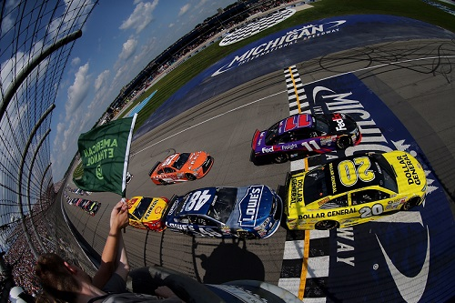 The NASCAR Sprint Cup Series takes the green flag at Michigan International Speedway (photo courtesy of Getty Images for NASCAR)