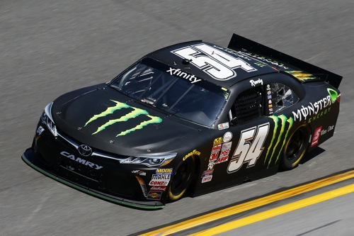 No. 54 Joe Gibbs Racing Toyota of Kyle Busch in the NASCAR Xfinity Series (photo courtesy of Getty Images for NASCAR)