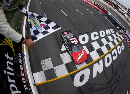 Kurt Busch wins at Pocono Raceway on June 5, 2016 (photo courtesy of Getty Images for NASCAR).