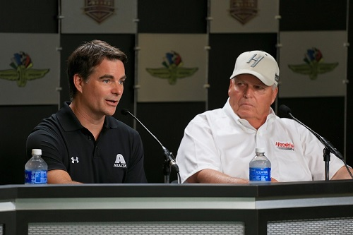 Jeff Gordon (left) and car owner Rick Hendrick (photo courtesy of Getty Images for NASCAR)