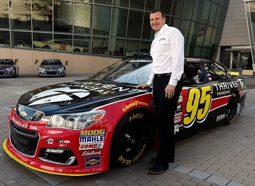 Michael McDowell and the No. 95 Circle Sport-Leavine Family Racing Chevrolet (photo courtesy of Getty Images for NASCAR)
