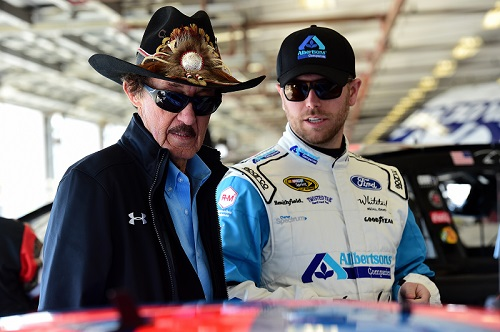 Richard Petty (left) and Brian Scott (photo courtesy of Getty Images for NASCAR)
