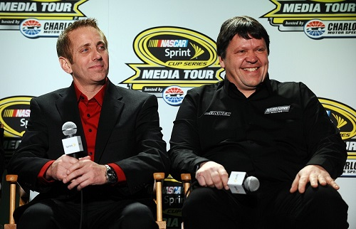 Robbie Reiser (right) and Greg Biffle (photo courtesy of Getty Images for NASCAR)