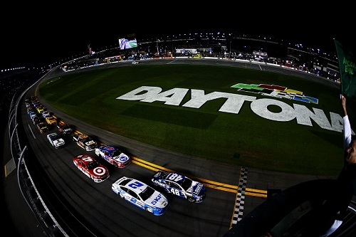 2016 Sprint Unlimited race field at Daytona International Speedway (photo courtesy of Getty Images for NASCAR)