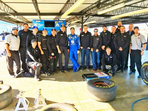 Dale Earnhardt Jr. (center) with his No. 88 Hendrick Motorsports Chevrolet team (photo courtesy of Dale Earnhardt Jr. via Twitter)