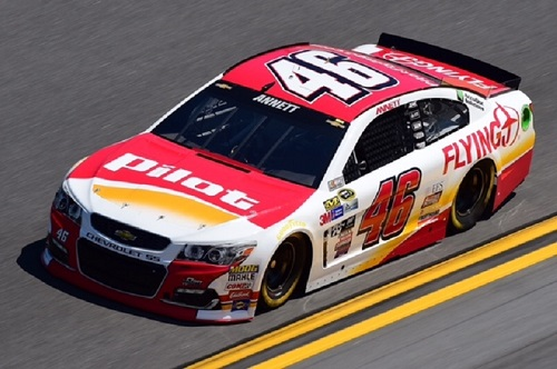 No. 46 HScott Motorsports Chevrolet of Michael Annett (photo courtesy of Getty Images for NASCAR)