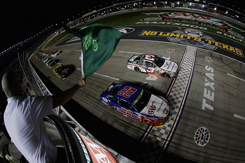 The NASCAR Sprint Cup Series takes the green flag at Texas Motor Speedway in 2016 (photo courtesy of Getty Images for NASCAR).