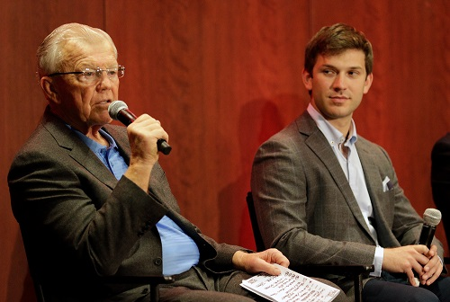 L to R: Joe Gibbs Racing owner Joe Gibbs and driver Daniel Suarez (photo courtesy of Getty Images for NASCAR)