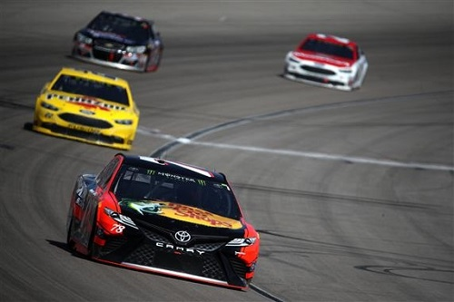 Martin Truex Jr. (78) leads the way during the Kobalt 400 at Las Vegas Motor Speedway on March 12, 2017 (photo courtesy of Getty Images for NASCAR).