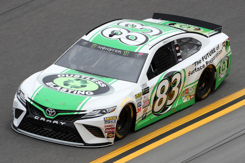 No. 83 BK Racing Toyota of Corey LaJoie (photo courtesy of Getty Images for NASCAR)