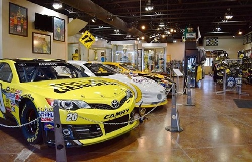 Matt Kenseth-raced cars on display at the Matt Kenseth Museum and Store in Cambridge, Wis. (photo courtesy of Matt Kenseth)