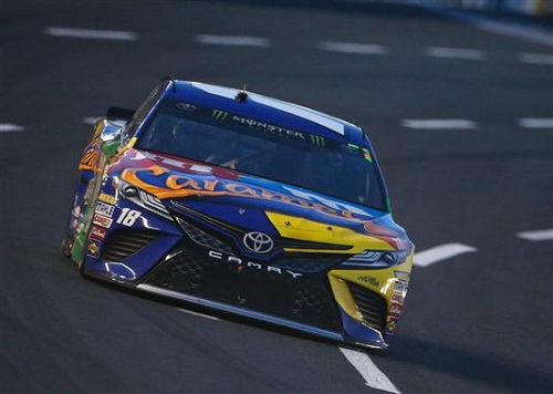 No. 18 Joe Gibbs Racing Toyota of Kyle Busch during the Monster Energy All-Star Race at Charlotte Motor Speedway on May 20, 2017 (photo courtesy of Getty Images for NASCAR).