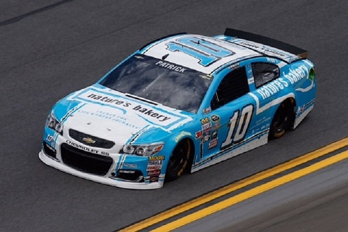 No. 10 Stewart-Haas Racing entry of Danica Patrick, with Nature's Bakery sponsorship, in 2016 (photo courtesy of Getty Images for NASCAR).