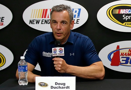 Doug Duchardt (photo courtesy of Getty Images for NASCAR)