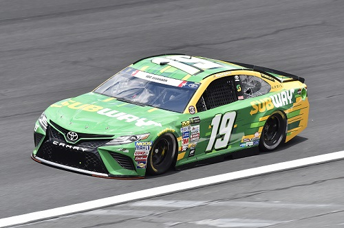 The No. 19 Joe Gibbs Racing Toyota of Daniel Suarez (photo courtesy of Getty Images for NASCAR)