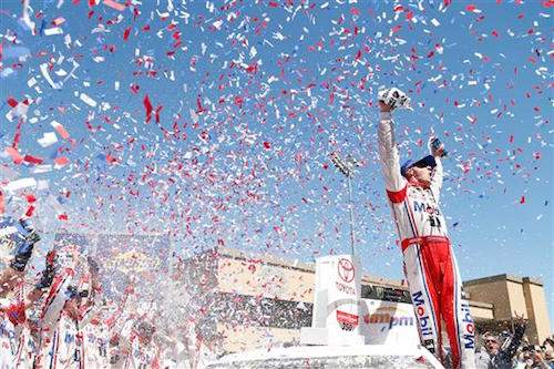 Kevin Harvick celebrates at Sonoma Raceway after winning the Toyota/Save Mart 350 on June 25, 2017 (photo courtesy of Getty Images for NASCAR).