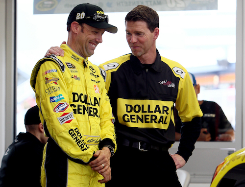 L to R: driver Matt Kenseth and crew chief Jason Ratcliff (photo courtesy of Getty Images for NASCAR)