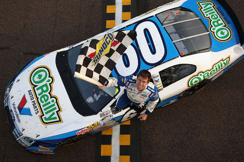 Carl Edwards wins with the Roush Fenway Racing No. 60 at Phoenix International Raceway in 2009 (photo courtesy of Getty Images for NASCAR).