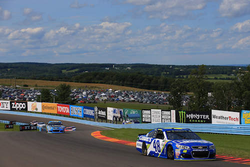 On-track action during the I Love New York 355 at Watkins Glen International on Aug. 6, 2017 (photo courtesy of Getty Images for NASCAR)