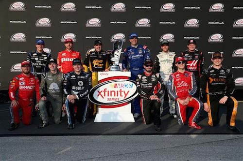 2017 NASCAR Xfinity Series playoffs group photo (photo courtesy of Getty Images for NASCAR)