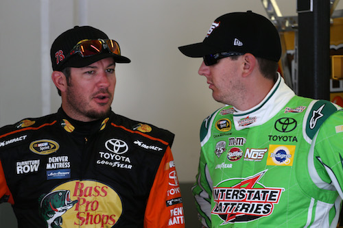 Kyle Busch (right) with Martin Truex Jr. (photo courtesy of Getty Images for NASCAR)
