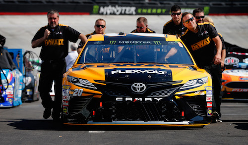 No. 20 Joe Gibbs Racing Toyota of Matt Kenseth (photo courtesy of Getty Images for NASCAR).