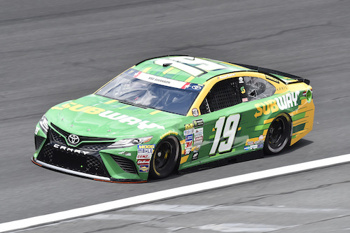 No. 19 Joe Gibbs Racing Toyota of Daniel Suarez (photo courtesy of Getty Images for NASCAR)