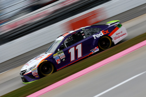 No. 11 Joe Gibbs Racing Toyota of Denny Hamlin at Martinsville Speedway (photo courtesy of Getty Images for NASCAR)
