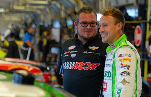 Daniel Hemric (right) and crew chief Danny Stockman Jr. (photo courtesy of Getty Images for NASCAR)