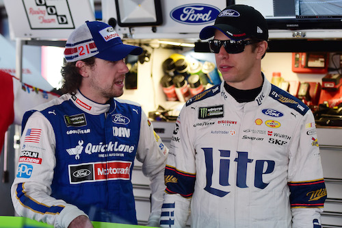 Ryan Blaney (left) and Brad Keselowski (photo courtesy of Getty Images for NASCAR)