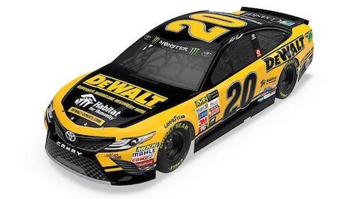 Rendering of the No. 20 Joe Gibbs Racing Toyota Matt Kenseth will race in the Ford EcoBoost 400 at Homestead-Miami Speedway provided by Joe Gibbs Racing