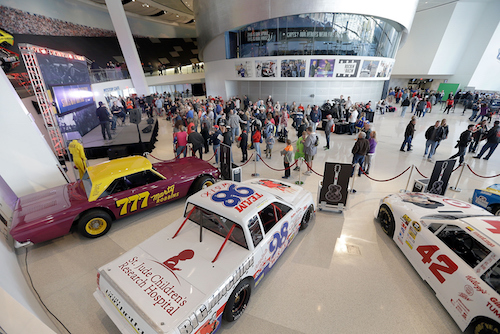 The 2015 NASCAR Fan Appreciation Day at the NASCAR Hall of Fame (photo corutesy of Getty Images for NASCAR)