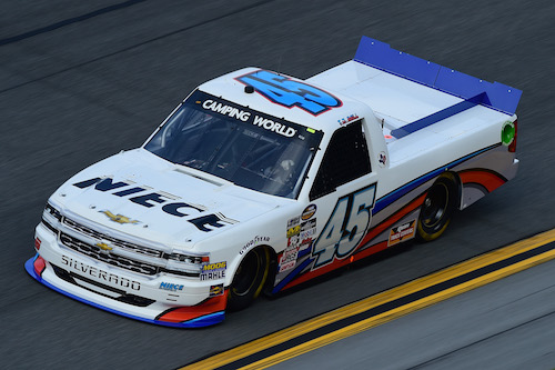 No. 45 Niece Motorsports Chevrolet (photo courtesy of Getty Images for NASCAR)