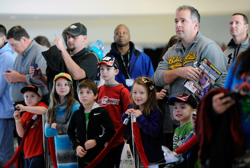 Fans at the 2015 NASCAR Fan Appreciation Day at the NASCAR Hall of Fame (photo courtesy of Getty Images for NASCAR)