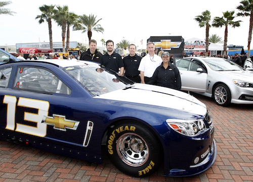Alba Colon (right) with other Chevrolet Racing executives (photo courtesy of Getty Images for NASCAR)