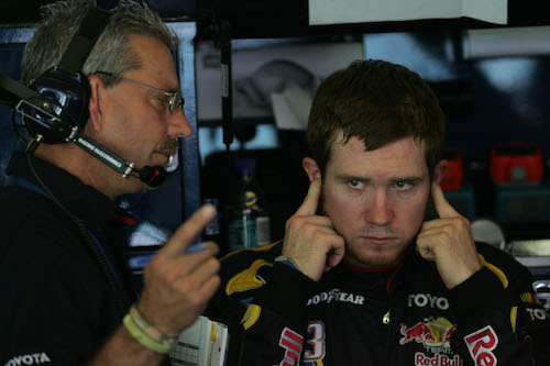 Doug Richert (left) with former NASCAR Brian Vickers in 2007 (photo courtesy of Getty Images for NASCAR)