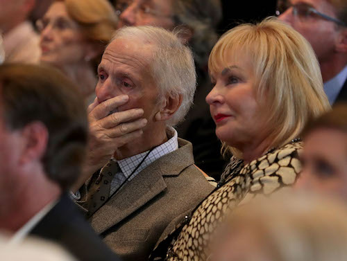 Robert Yates learns he'll be among the 2018 inductees into the NASCAR Hall of Fame during Hall of Fame voting day on May 24, 2017, in Charlotte, N.C. (photo courtesy of Getty Images for NASCAR).