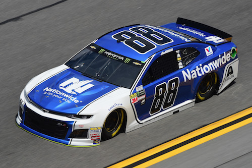 No. 88 Hendrick Motorsports Chevrolet of 2018 Daytona 500 pole sitter Alex Bowman (photo courtesy of Getty Images for NASCAR)