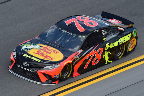 The No. 78 Furniture Row Racing Toyota of Martin Truex Jr. (photo courtesy of Getty Images for NASCAR).