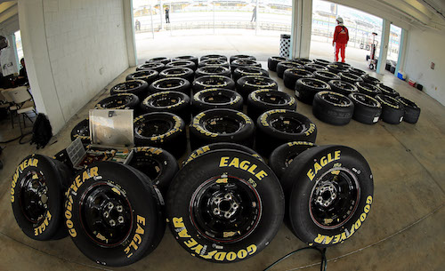 Let's start NASCAR races on sticker tires