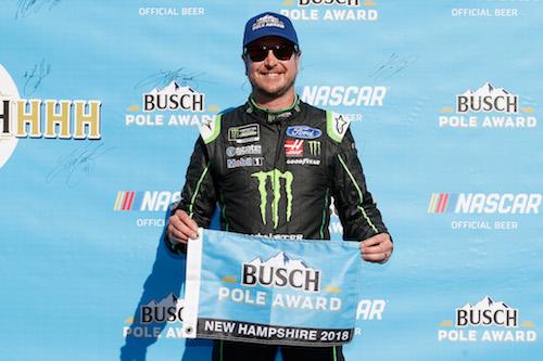 NASCAR Cup: Kurt Busch on pole at New Hampshire