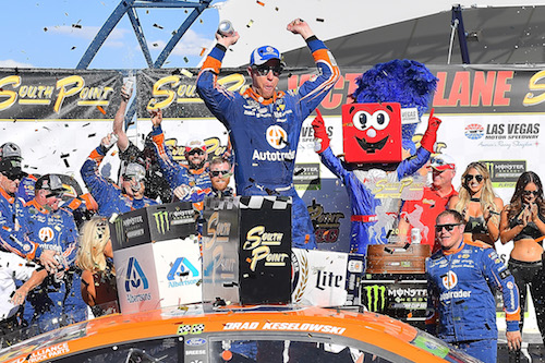 NASCAR Cup: Brad Keselowski scores third-straight win