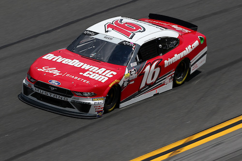 Daytona Beach Fl February 16 Ryan Reed Driver Of The Drive Down A1c Lilly Diabetes Ford Practices For Nascar Xfinity Series Shares Qqq