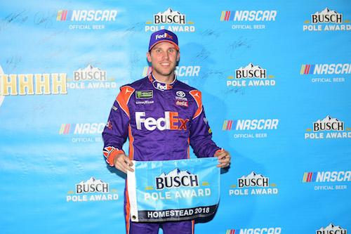 NASCAR Cup: Denny Hamlin on pole for season-finale